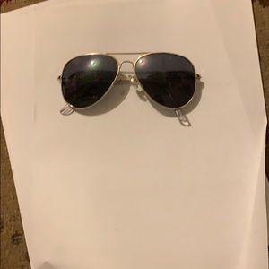 RayBan kids gold sunglasses with prescription lens